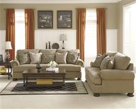 Keereel Sand Living Room Set By Signature Design In Sets The Generously Scaled