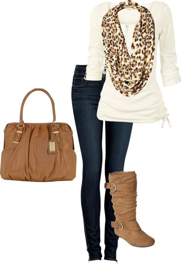 I don't love leopard print, but this would look really cute with a Burberry scarf instead.