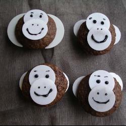 #Affen-Muffins, perfekt für die #Dschungelparty oder Zoo Thema beim #Kindergeburtstag.