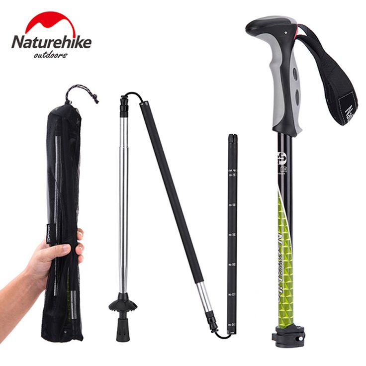POINT BREAK NH00D004-D Outdoor Climbing Rod Carbon Ultra Light 4 Section Telescopic Folding Cane Professional Walking Stick