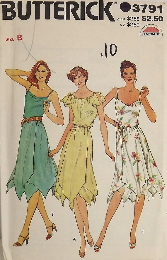 Vintage 80's Sewing Pattern Misses SunDress by SuzisCornerBoutique, $10.00