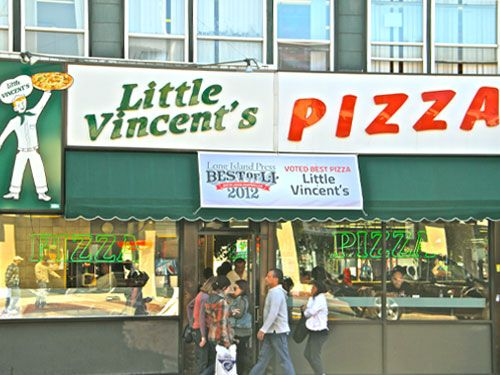 Daily Slice Cold Cheese At Little Vincent 39 S Pizza Huntington Cheese Pizza And The O 39 Jays