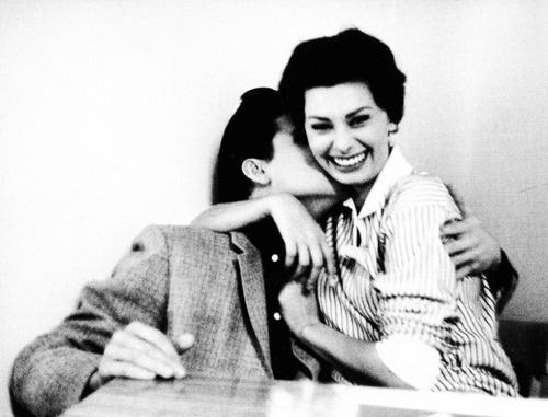 Elvis Presley & Sophia Loren photographed by Bob Willoughby, 1958