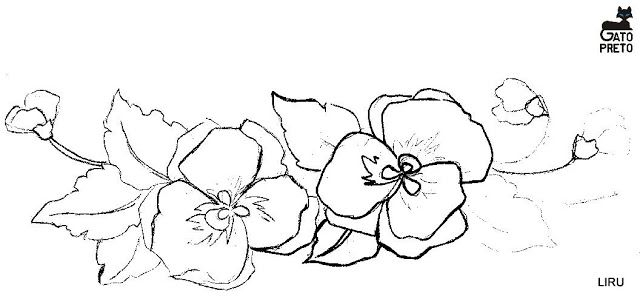 Dibujos y Plantillas para imprimir: Plantillas dibujos floresn Pensamientos 05
