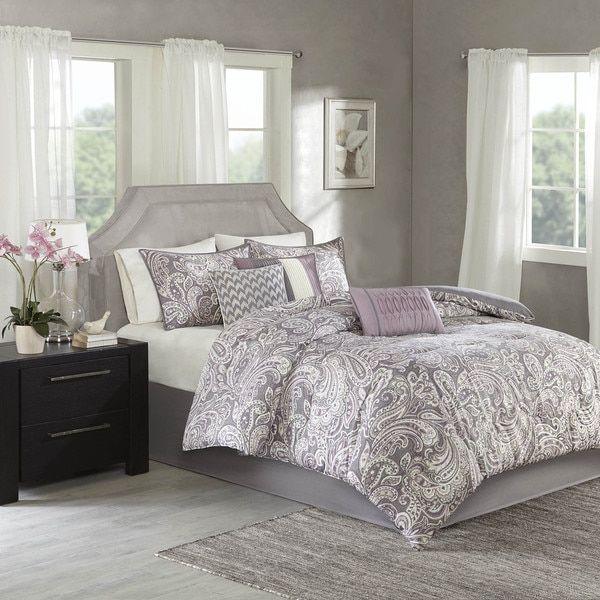 Madison Park Lira Purple Comforter 7 Piece Set