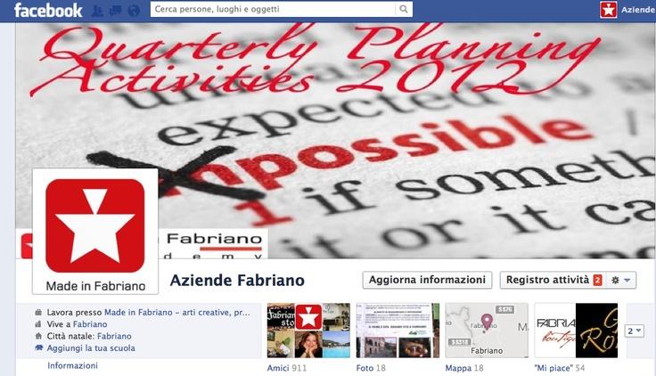 Schermata profilo Facebook dell'Academy. Seguiteci!