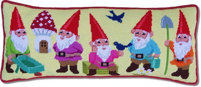 Kirk & Hamilton Needlepoint Kit Garden Gnomes