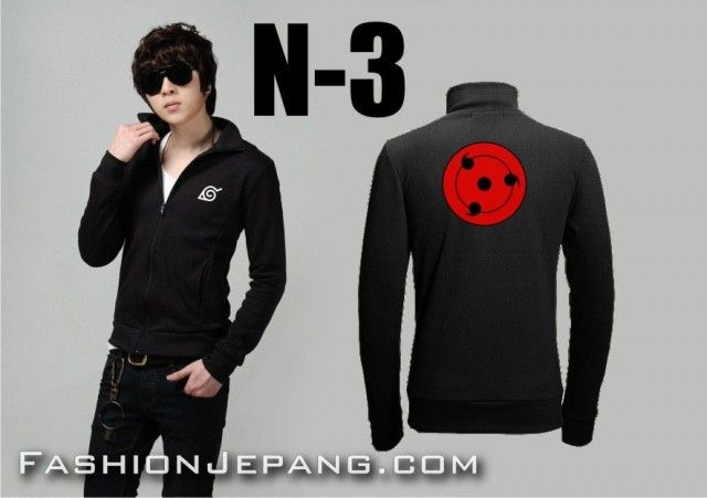 *Jaket Anime Naruto N-3 *Material : Poly Adidas Best Quality