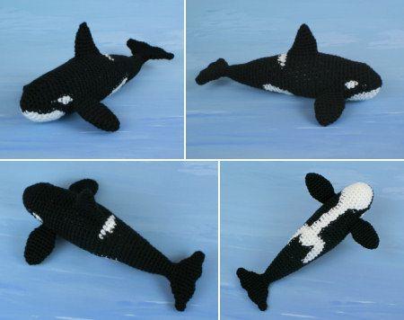 Orca (Killer Whale) amigurumi crochet pattern by PlanetJune