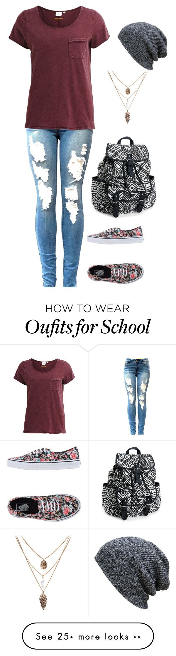 """""""Ugh, School"""" by lizzie-cockerham on Polyvore featuring Object Collectors Item, Vans and Aéropostale"""