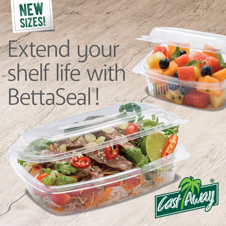 Longer shelf life for food? Shelf life begins from the moment in which a food is produced and depends on many factors such as the type of packaging. Our Bettaseal® Food Containers feature a lock design that creates a completely air tight closure, keeping contents fresh and maintaining seal integrity after multiple openings. See sizes at bit.ly/BettaSealLunch