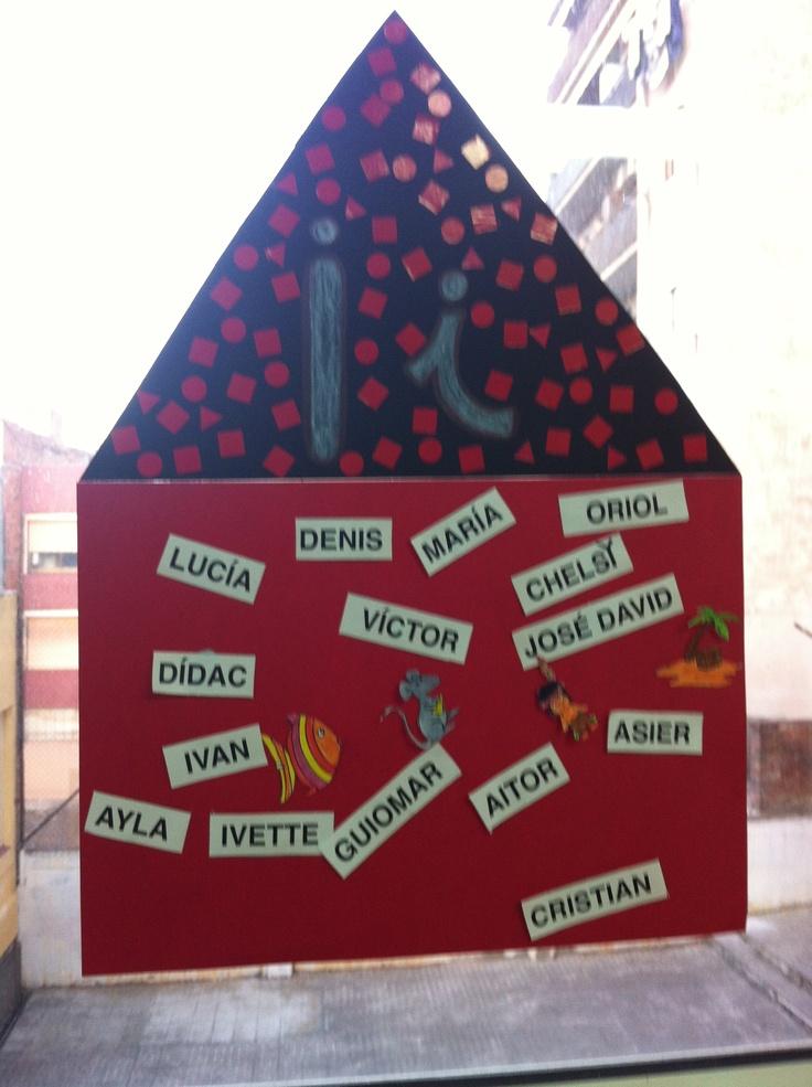 """La caseta de la lletra """"i""""  Es pot fer amb totes les lletres i paraules diverses."""