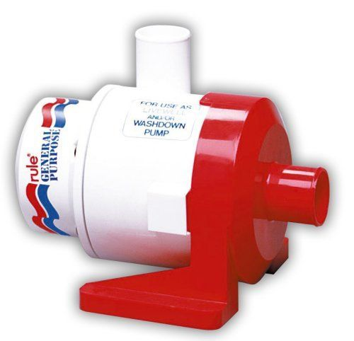 Rule 17A 3800 General Purpose Centrifugal Pump, 3800 GPH, 12 Volt DC,White/Red by Rule. Rule 17A 3800 General Purpose Centrifugal Pump, 3800 GPH, 12 Volt DC,White/Red. one size.