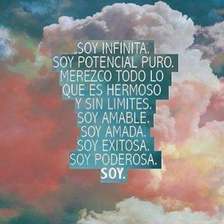 ❤️❤️ #soyinfinita #potencialpuro #soyamada #soyamable #Amor #abundancia #decreto #afirmacion #lunes #exitosa #poderosa #mujerholistica #bienestar