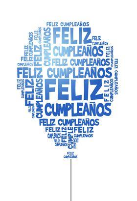 """Feliz Cumple Globos"" printable card. Customize, add text and photos. Print for free!"