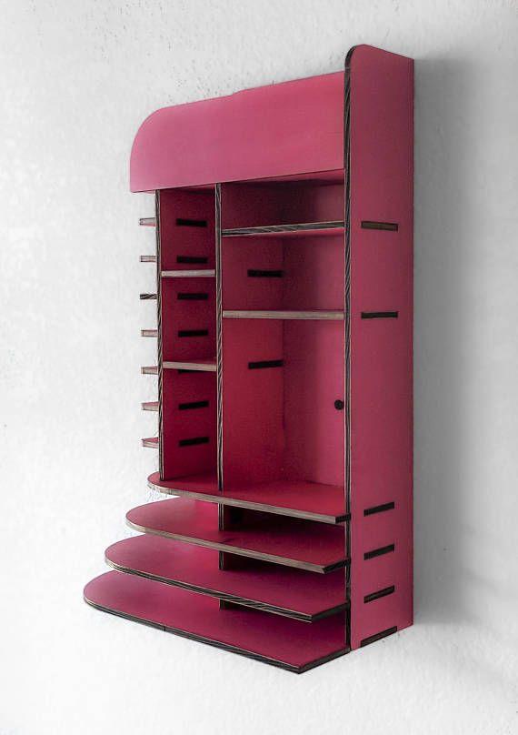 Hot Pink Wall Hanging Makeup Organizer Pallette Holder Makeup Storage Organization Hanging Makeup Organizer Clothes Storage Organizer
