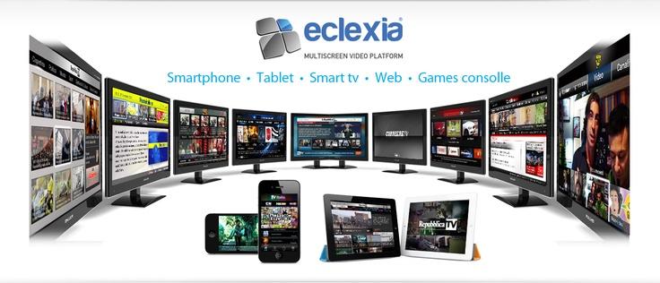 """Eclexia® è la piattaforma di distribuzione multiscreen di vetrya.  È disponibile sia in modalità """"video cloud"""" come soluzione end to end che """"video"""" come risposta dedicata alla crescente domanda di servizi avanzati broadband internet tv multischermo"""