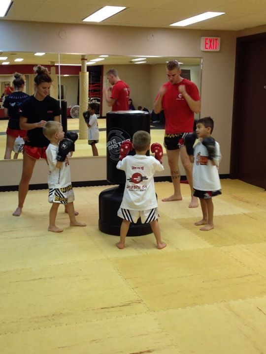 Tiny Thaigers Muay Thai working at Acadia