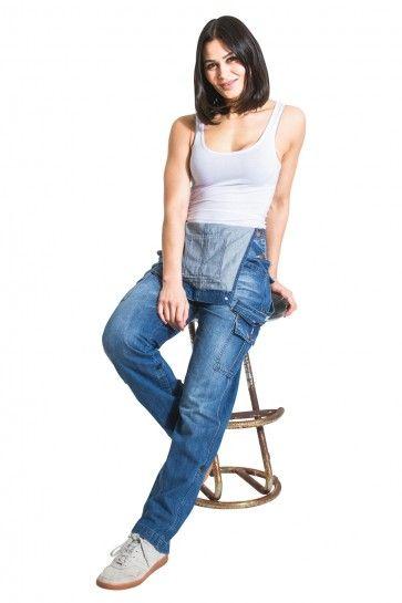 20bcd5510ae USKEES Ladies Denim Bib Overalls - Aged Blue Denim Dungarees for women.   denimfashion