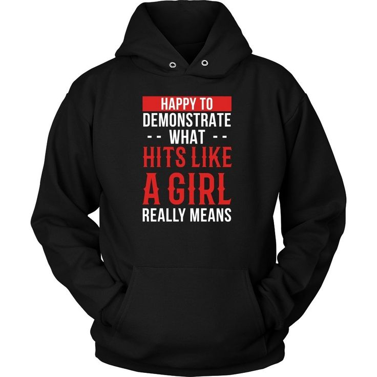 If you are passionate about MMA then, Happy to demonstrate what hits like a girl really means T-shirt is for you. Custom Fighting Apparel & Clothing by TeeLime