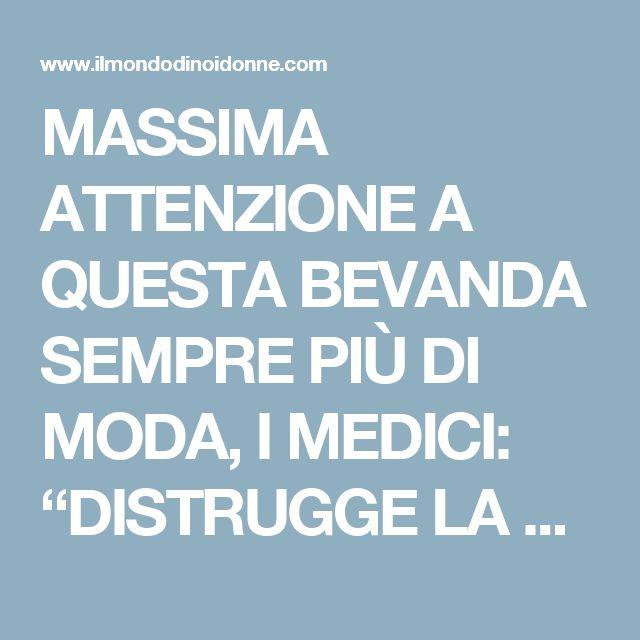 """MASSIMA ATTENZIONE A QUESTA BEVANDA SEMPRE PIÙ DI MODA, I MEDICI: """"DISTRUGGE LA TIROIDE"""" -"""