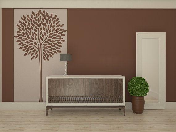 Best 25 tree wall stencils ideas on pinterest tree stencil for wall tree wall painting and - Stencil parete albero ...
