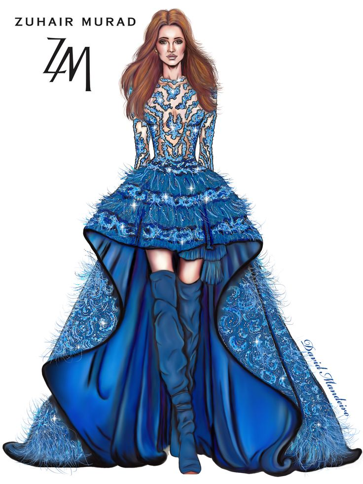 ZUHAIR MURAD Fall Winter 2016/2017. ‪#‎Digitaldrawing‬ by David Mandeiro Illustrations ‪#‎ZuhairMurad‬ ‪#‎Digitalpainting‬ ‪#‎FallWinter2016‬