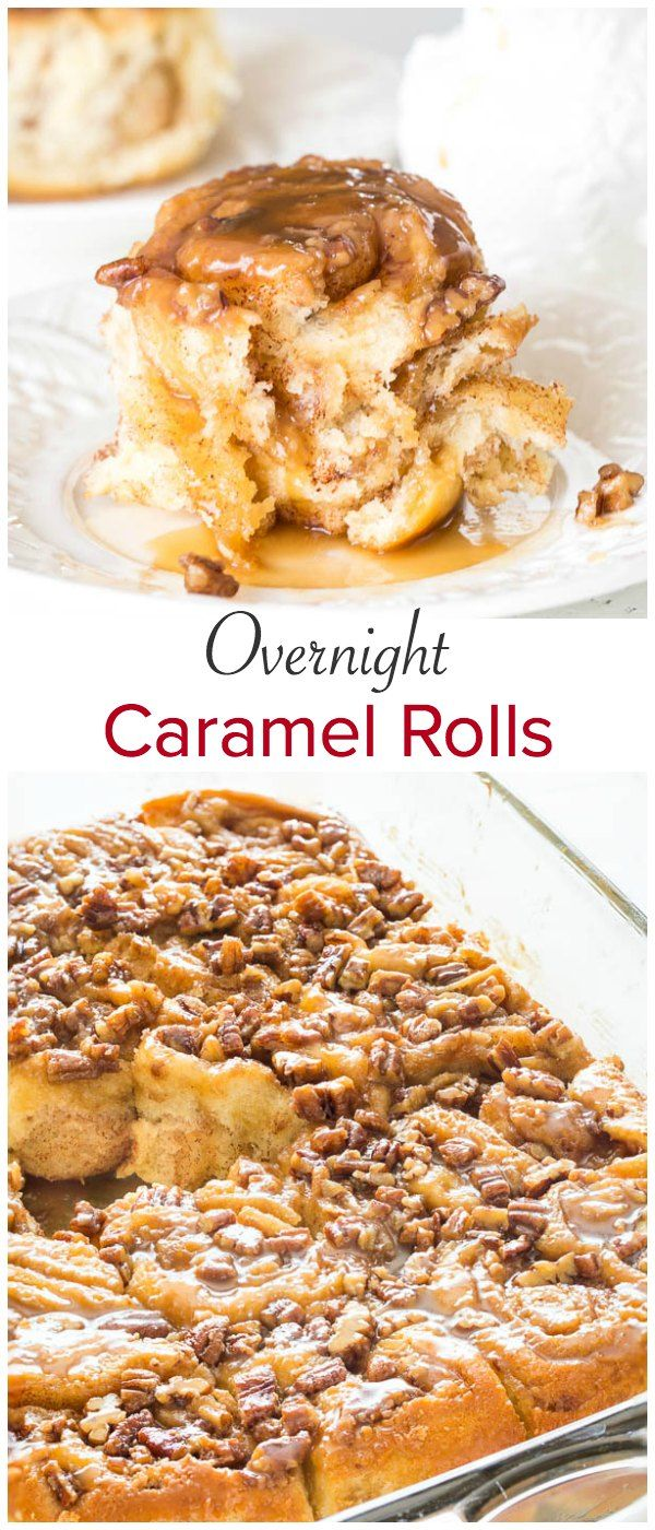 Irresistibly soft and fluffy overnight caramel rolls, soaked in luscious butterscotch sauce. The best way to start the weekend!