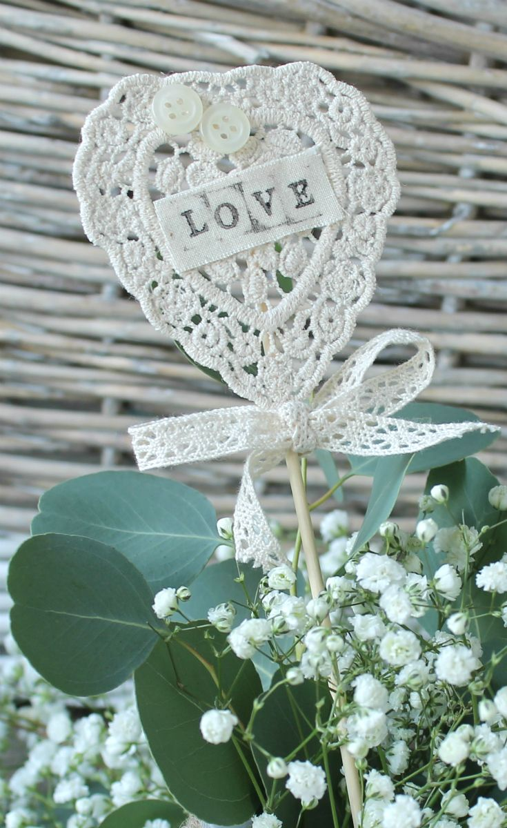 58 best crochet wedding images on pinterest crochet wedding pretty cream crochet heart wedding table number or name place from razzle dazzle rose junglespirit Choice Image