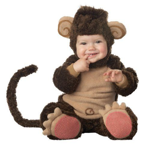 Lil Characters Infant Monkey Costume, Brown/Tan Incharacter. $27.95