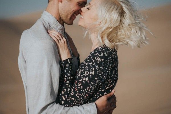 Gorgeous Ethereal Imperial Sand Dunes Engagement Photos