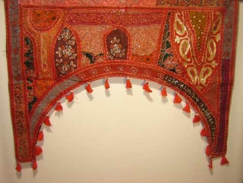 Decoracion adorno tapiz toran hindu bordado t grande - Decoracion indu ...