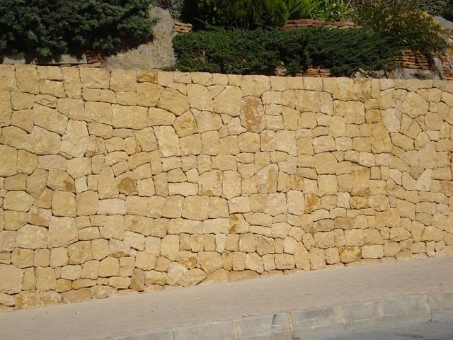 Moraira, Benidorm, Alicante y provincia. Construcción muro de piedra ...
