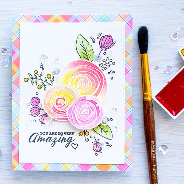 You are AMAZING watercolor card with Yana Smakula for the Simon Says Stamp blog!