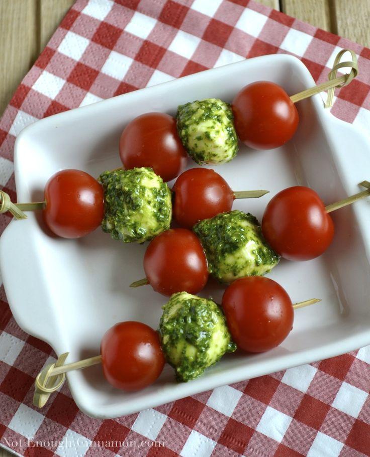 Tomato, Pesto and Mozzarella Skewers | Recipe