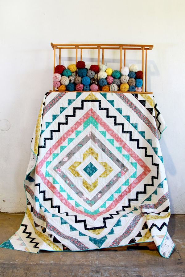 Make this Etno quilt with the ready-to-make kits! #ArtGalleryFabrics #Sew #Stitch #Thread #Kit #DIY #Design #Craft #HowTo #Makeit #Quilt #Fashion