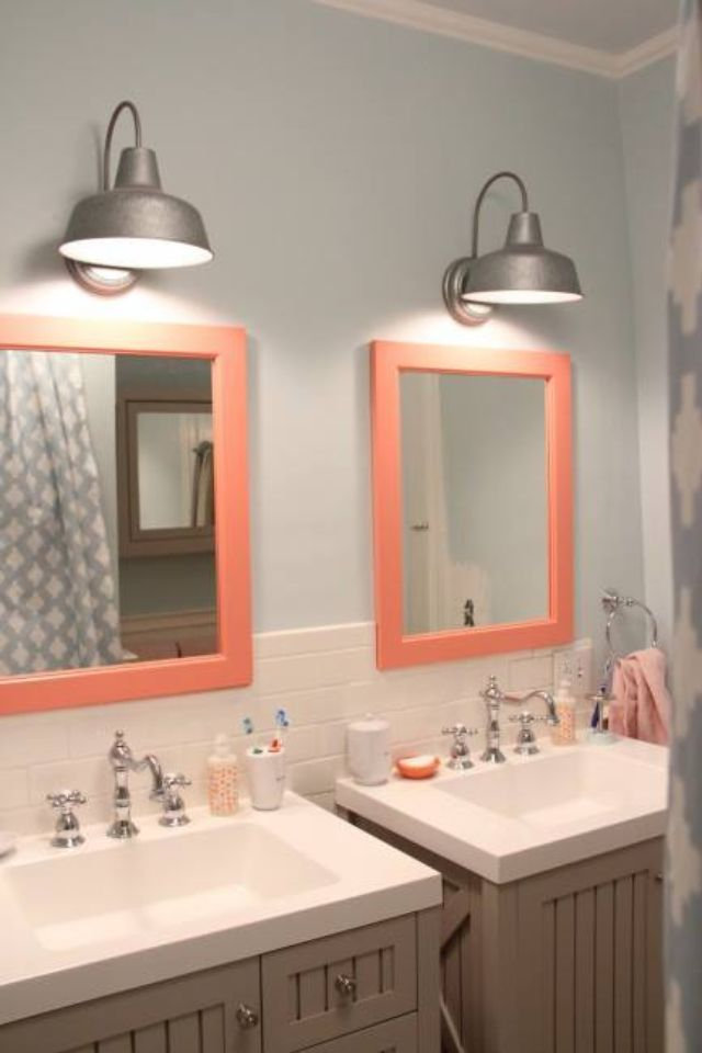 an easy kidsguest bathroom redo idea