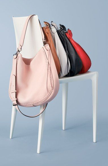 The new Rebecca Minkoff Unlined Convertible Whipstitch Hobo.  Fashion for the Modern Mom