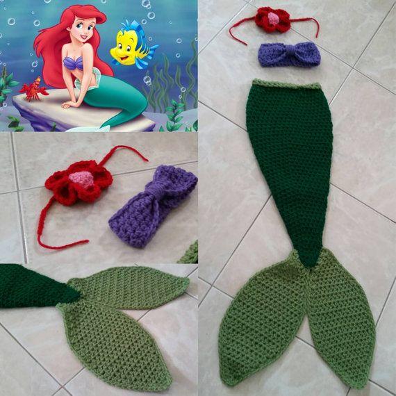 Crochet The little Mermaid Ariel Outfit headband by Potterfreakg