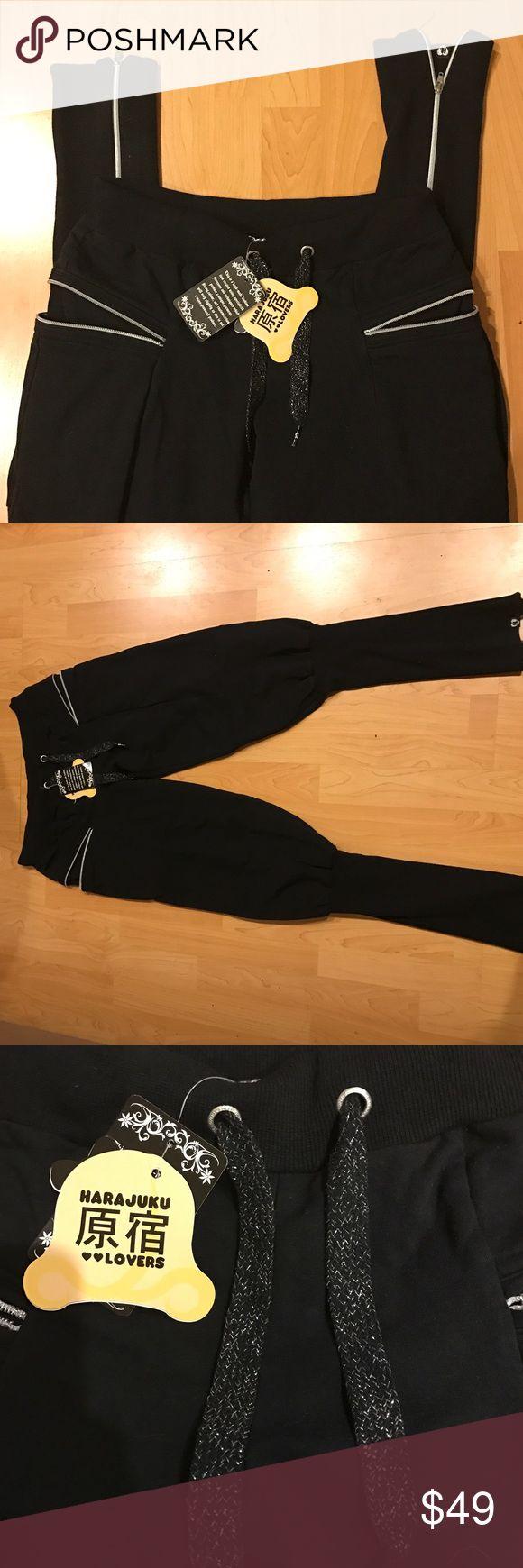 Harajuku Lovers love maniac sweat pants NWT Brand new with tags harajuku love maniac zippered skinny sweat pants. Harajuku Lovers Pants