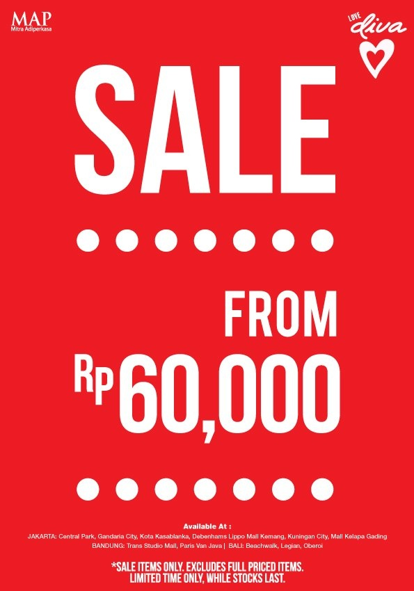 SALE from IDR 60K at DIVA Accessories