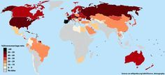 MAP: Divorce Rates Around The World. The world's highest divorce rates aren't found in the U.S. — marriage is actually a much riskier endeavor in Europe. http://www.businessinsider.com/map-divorce-rates-around-the-world-2014-5
