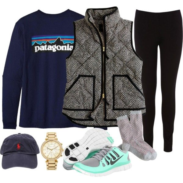 A fashion look from February 2014 featuring J.Crew vests, Oasis leggings and J.Crew socks. Browse and shop related looks.