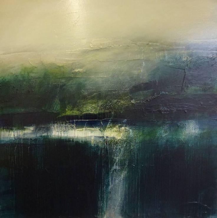 """Saatchi Art Artist John Bainbridge; Painting, """"HOUNDKIRK HILL...summer light"""" #art"""