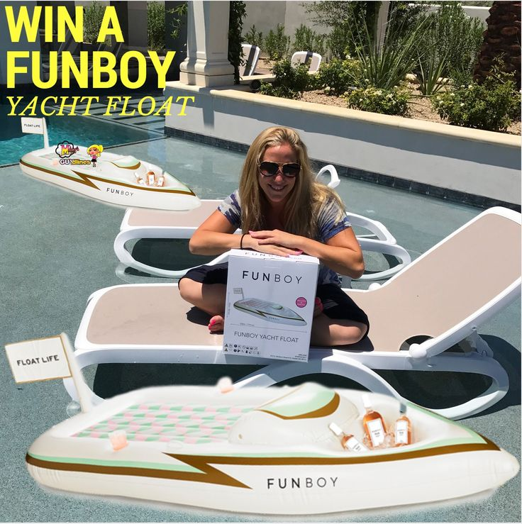 Do not miss this chance to win your own 9-foot FUNBOY Yacht Pool Float! A perfect outdoor item this summer season!  USA & Canada Only Giveaway #summergiveaway