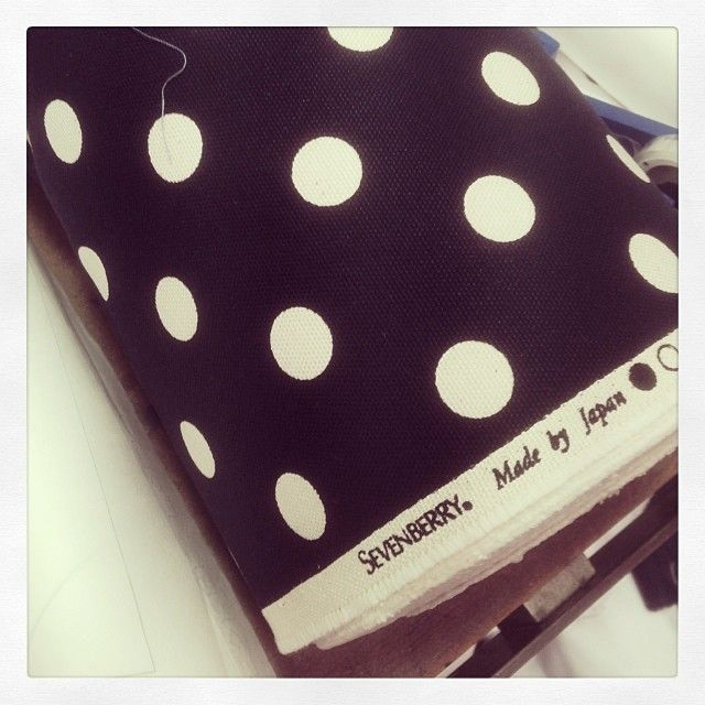 You can't go wrong with a nice Polka dot. This ones on a heavy canvas and destined to become a blazer! One for all the dandies out there. In store in Feb #threeoverone