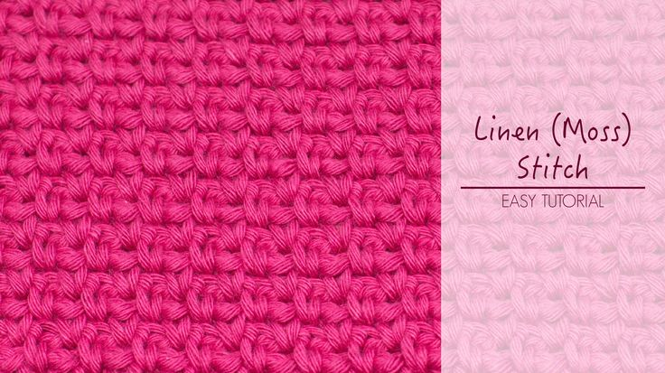 crochet moss stitch instructions