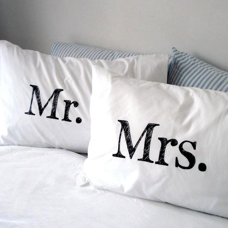 printed pillow cases. Mr \u0026 Mrs Hand Screen Printed Pillowcase Set - Collected Pillow Cases