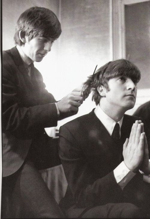 George and John. Photo by Terence Spencer, 1963