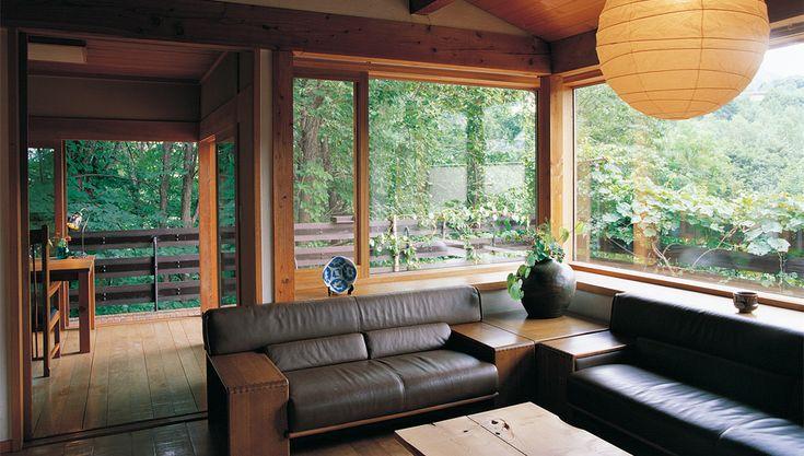 素材の変化を楽しむ和モダンな家   建築家住宅のデザイン 外観&内観集 高級注文住宅 HOP